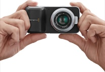BM pocket camera in hands
